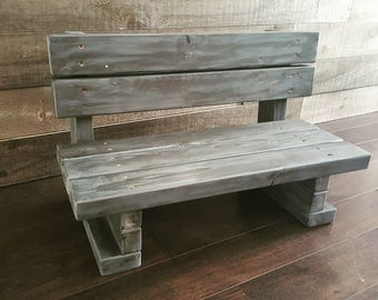 Rustic Bench - Photography Prop