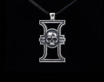 Warhammer 40k Inquisition Pendant, silver-plated brass, handmade ..... inquisitorial rosette, inquisition insignia