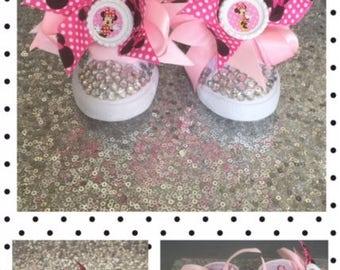 Minnie Shoes*Minnie Sneakers*Minnie Kicks*Minnie Bling *Minnie Bling Sneakers*Minnie High Tops*Minnie*Minnie Mouse*Inspired*
