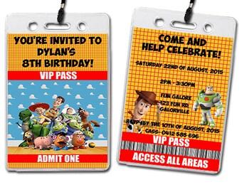 Toy Story Birthday Party Lanyard Invitations Kids