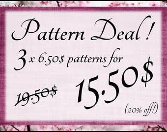 Super Pattern Deal! Amigurumi pattern deal! 20% off!