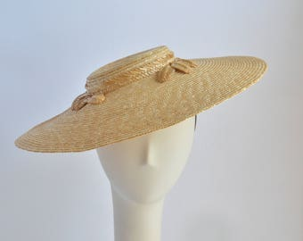 Wheat Straw Bergere - Sun Hat