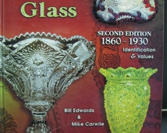 Standard Encyclopedia of Pressed Glass 2nd Ed Hardback 1860-1930 reference book price guide.
