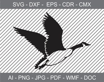 Canadian Goose - svg - ai -dxf - cdr - pat - jpeg - png -pdf -wmf -docx - Printable Clipart -Iron on Transfer -Vinyl Cutting-Laser Engraving