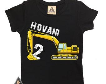 Construction Digger Excavator Custom Birthday Shirt / Construction Birthday Shirt, Custom Construction shirt, Custom Digger shirt