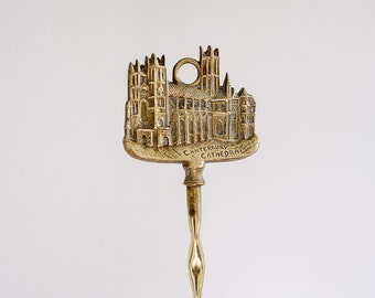 Canterbury Cathedral Fire stoker - Vintage brass