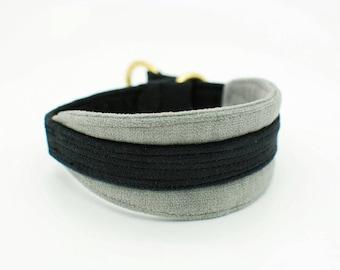 Supersoft Cotton Velvet Sighthound MARTINGALE Collar - Robust, Washable, Gentle collar, Sensitive Collar