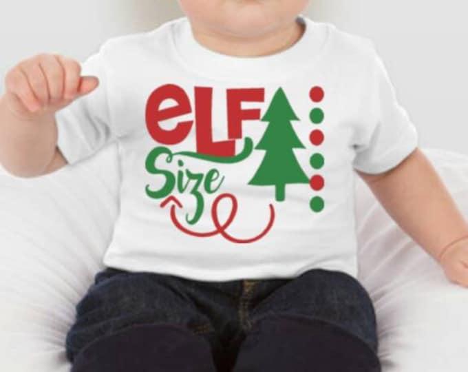 Elf Sized Christmas Tshirt