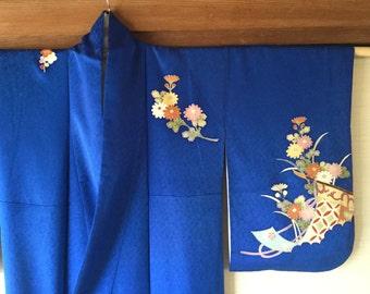 Japanese Vintage Silk Kimono Robe
