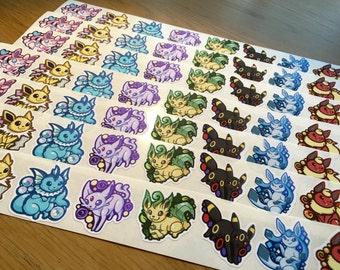 Eeveelutions Nerdy Vinyl Sticker Sheet Pokemon