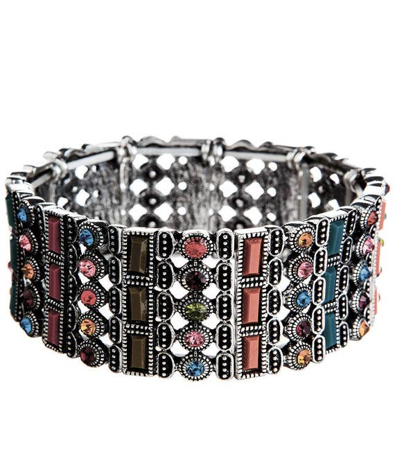 Bohemian Multi Stone Stretch Bracelet