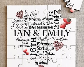 Love Heart Unique Wedding Jigsaw Gift Puzzle Personalised Suprise Idea W296
