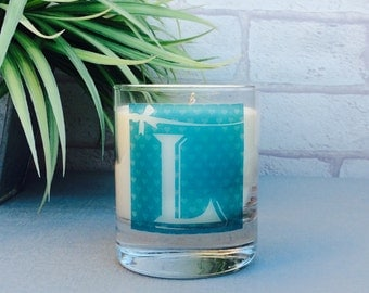 Alphabet Letters Gift, Candle Gift, Thank You Bridesmaid Gift, Soy Wax Scented Candle, Gift For Her, Secret Santa Gift