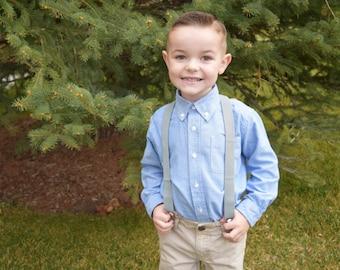 0-3t suspnders. 3t-14 year suspenders, Boy suspender, Girl suspenders, Grey. Pink. Tan. Blue. Black. Baby suspenders. Toddler suspenders.