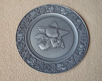 Hallmark Little Gallery Pewter Plate 1979