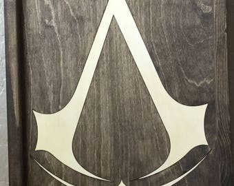 Assassin's Creed Wooden Inlay Wall Art