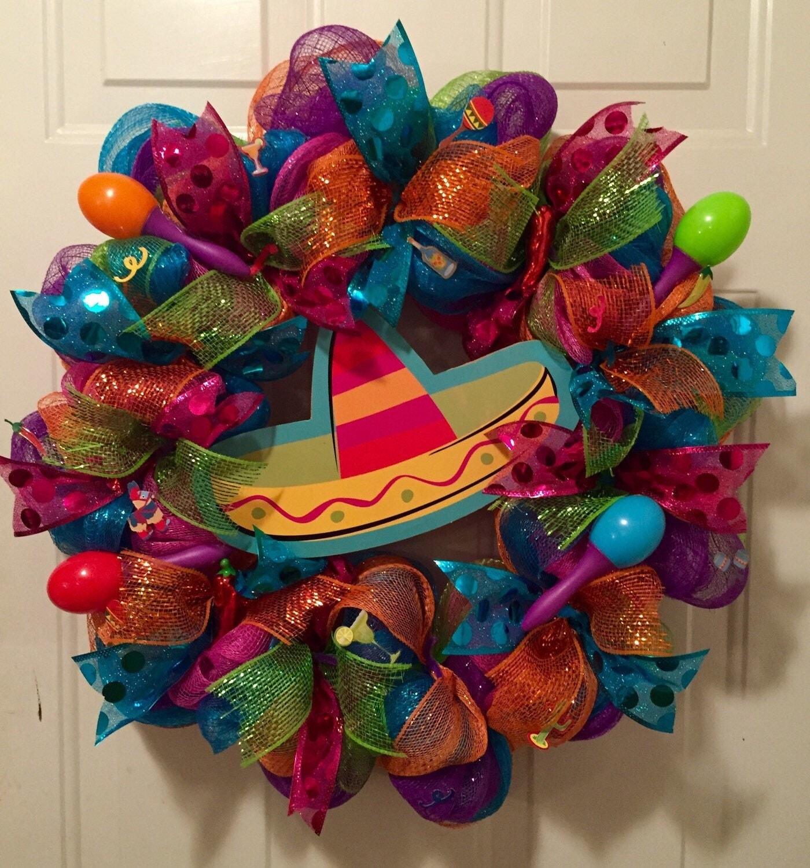 Cinco De Mayo Wreath Fiesta Wreath Mexican Fiesta Wreath