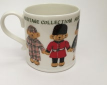Vintage Tea Coffee Mug Cup Merrythought Heritage Collection Teddy Bears 1995 For the Teddy Bear Collector