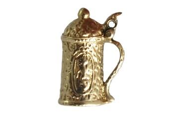 Vintage 14K Gold Beer Stein Mug Charm