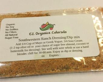 Southwestern Ranch dressing organic MIX. BPA free. no additives no preservatives. Low salt