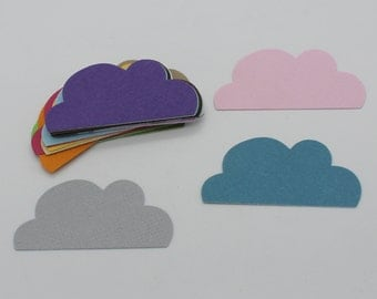 Cloud: set of die - cut cut-outs