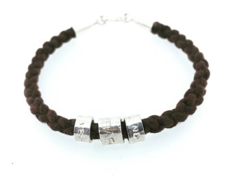Customize Your Own Rugged Stamped Rope Bracelet