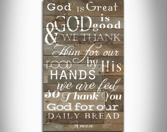 God is great God is good unique typography wordart home decor