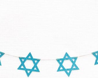 Star of David Garland | Star of David Decor | Star of David Banner | Hanukkah Garland | Hanukkah Decor | Hanukkah Banner