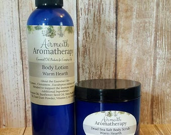 Moisturizing Body Lotion & Dead Sea Salt Combo