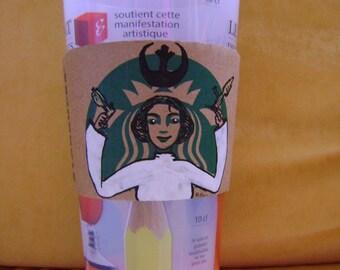 coffee sleeve Princess Leia