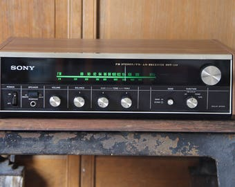 Nice Vintage SONY stereo model HST-110 vintage audio, stereo receiver, tested and working.