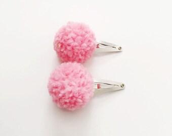 Single Pom Pom Snap Clip // Hair Clip / Hair Accessories / Toddler Hair Clip / Baby Hair Clip