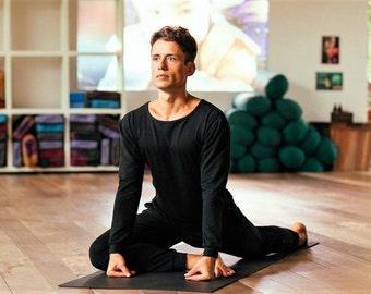 Men Yoga Jumpsuit, Stretchy and comfortable, Activewear for Men, Black, Unique, Handmade, Sportswear