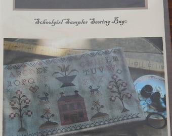 Stacy Nash Primitives Schoolgirl Sampler Sewing Bag
