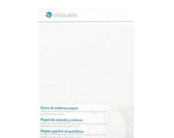 Silhouette America Score & Emboss Paper 10 - 5 x 7 Sheets