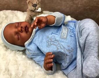 Reborn newborn baby doll Joshua. Custom made to order. Sculpt by Reva Schick