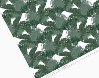Tropical Palm Leaves Dark Green Wrapping Paper