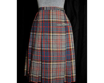 Wool plaid skirt | Etsy