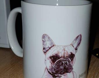 French bulldog mug Frenchie designer mug
