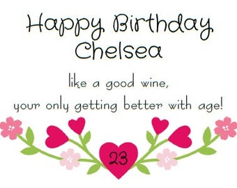 Birthday Wine Label *Free Shipping*