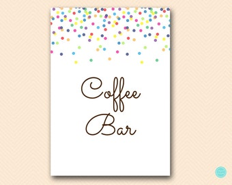 Sprinkle Baby Shower Decoration Sign, Coffee Bar Sign, Coffee Bar Table Sign, Coffee Station, Self Serve Coffee, Sprinkled with Love TLC108