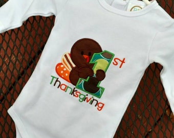 First Thanksgiving baby bodysuit, my first Thanksgiving bodysuit, boy first Thanksgiving, Girl's first Thanksgiving outfit