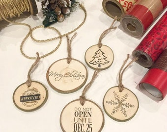 Christmas Gift Tags | Holiday Gift Tags - Gift Wrapping - Rustic Christmas - Handmade Gift Tags - Rustic Gift Tags