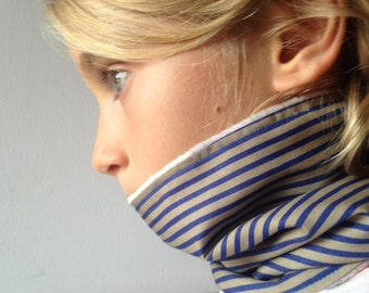 Neck warmer for kids, loop for children, infinity scarf cache cou enfant in cotton or polka dots and cotton stripes