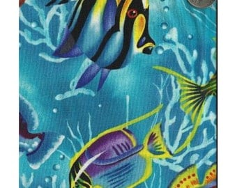 Timeless Treasures Quilting Cotton Fabric Ocean Fish 127595 - 1/2 Yard