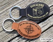 Geocache Keyring Engraved With Your Geocaching Name, Geocaching Keychain, Personalized, Custom, Cache, Engraved Key Ring