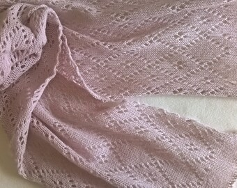 lilac lace scarf / lace scarf / summer scarf/ wool scarf