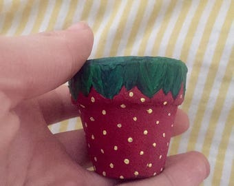 Super Mini Little Fruit Planter//Tiny Succulent Strawberry Pot