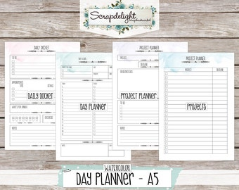 Scrapdelight Printable Planner Kit 2017 - Watercolor - A5 Day Planner