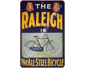The Raleigh Steel Bicycle Vintage Look Metal Sign 8 x 12 8120421